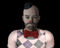 SAD clown Arkivfoton