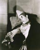 Sad clown Stock Photography