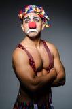 Sad clown against Stock Image