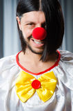 Sad clown against Royalty Free Stock Photography