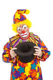 Sad Clown Empty Hat Royalty Free Stock Images