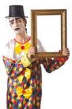 Sad clown on  white Stock Photography