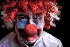 SAD clowngråt Royaltyfria Bilder