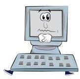 Sad Computer cartoon Stock Images