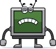 Sad Computer Monitor Stock Photography