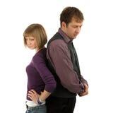 Sad couple. On a isolated background royalty free stock image