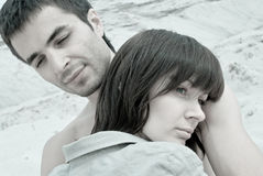 Sad couple. The young love couple in sadness Royalty Free Stock Photos