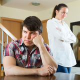 Sad couple during conflict Stock Photography