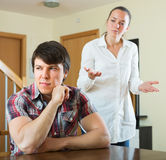 Sad couple during conflict Royalty Free Stock Images