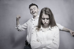 Sad couple having conflict Royalty Free Stock Photos
