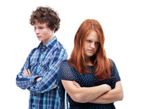 Sad couple - isolated Royalty Free Stock Photo