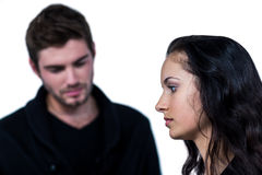 A Sad couple near each other Royalty Free Stock Image