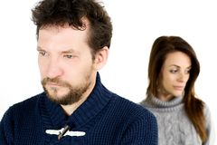 Sad couple not talking to each other Stock Photos