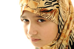 Sad covered muslim girl Stock Photography