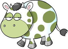 Sad Cow Vector Illustration Art Royalty Free Stock Photos