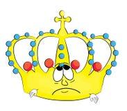 Sad crown cartoon Royalty Free Stock Photos