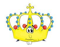 Sad crown cartoon Stock Photos