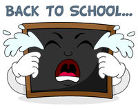 Sad Crying Blackboard Cartoon Character Royalty Free Stock Photos