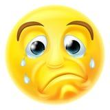 Sad Crying Emoji Emoticon Stock Image