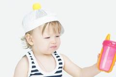 Sad crying little girl Royalty Free Stock Photography