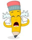 Sad Crying Pencil Cartoon Character Royalty Free Stock Image