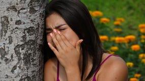 Sad Crying Teen Girl Royalty Free Stock Images