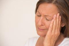 Sad crying woman portrait Stock Image