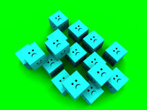Sad Cubes  10 Royalty Free Stock Photos