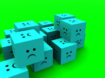 Sad Cubes  8 Stock Photos