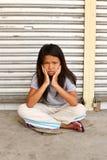 Sad cute homeless child Royalty Free Stock Photo