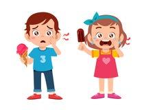 Free Sad Cute Kids Sick Suffer Toothache Cavity Royalty Free Stock Image - 160885956