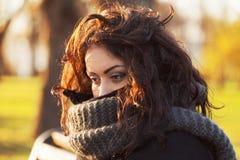 Sad, dark-haired woman Royalty Free Stock Photo