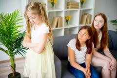 Sad daughter and sister Stock Photos