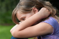 Sad dejected girl Stock Photo