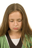 Sad and Dejected Little Girl Royalty Free Stock Images