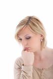 Sad dejected young woman Royalty Free Stock Photography
