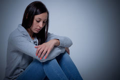 Sad depressed woman  Stock Photo