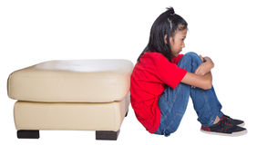 Sad And Depressed Young Asian Girl II Stock Photos