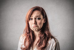 Sad desperate woman Stock Image
