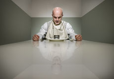 Sad dinner Royalty Free Stock Images