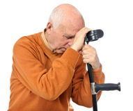 Sad disabled senior man Royalty Free Stock Image