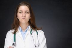 Sad doctor Royalty Free Stock Photo