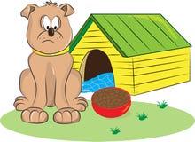 Sad Dog. Strong big pitbull dog is sad because its want to be free royalty free illustration