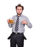 Sad drunk businessman Royalty Free Stock Photography