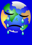 Sad Earth. Earth sad  about herl situation Stock Images