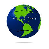 Sad earth icon. Illustration of a sad globe icon.eps file is available Royalty Free Stock Photos