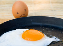 Sad egg Royalty Free Stock Image