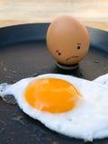 Sad egg Royalty Free Stock Photography