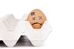 Sad Egg Characters Royalty Free Stock Photos