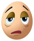 A sad egg Stock Images